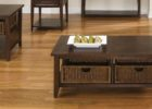 traditional dark wood coffee table set for sale