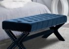 tufted ottoman navy blue coffee table