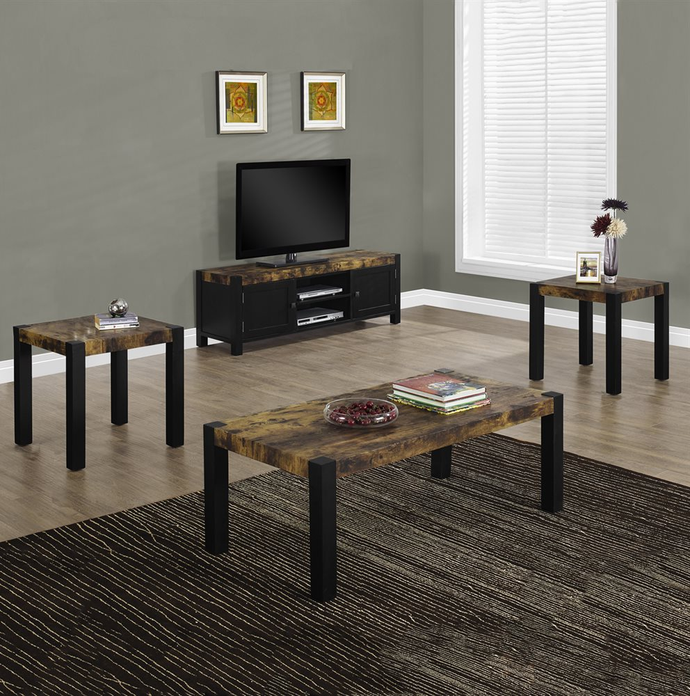 tv stand and coffee table set with faux marble