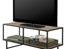 tv stand and coffee table set with metal frame