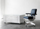white flat file coffee table