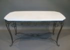 white leather ottoman coffee table with metal legs