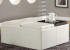 white leather ottoman coffee table with storage