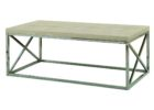 white natural wood chrome and wood coffee table