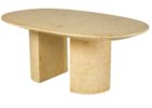 white oval dining table pedestal base double transition in espresso