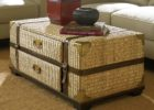 wicker trunk coffee table target