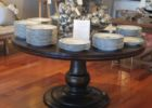 wood 60 inch round pedestal dining table
