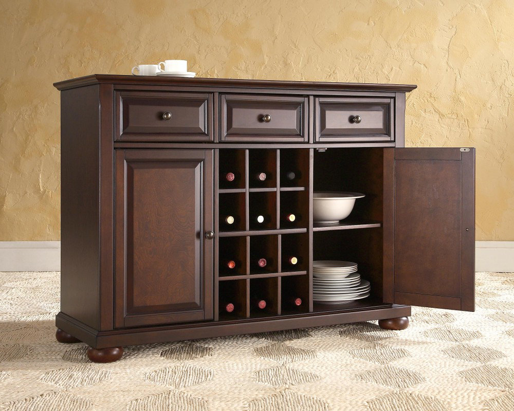 wood buffet tables for dining room