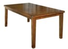 wood butterfly leaf dining table set