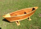wood cedar strip canoe coffee table