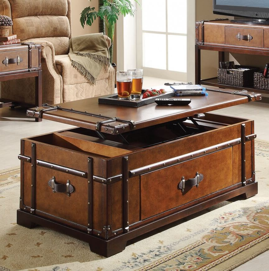 wood chest lift top coffee tables with storage