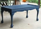 wood navy blue coffee table