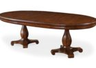 wood oval dining table pedestal base