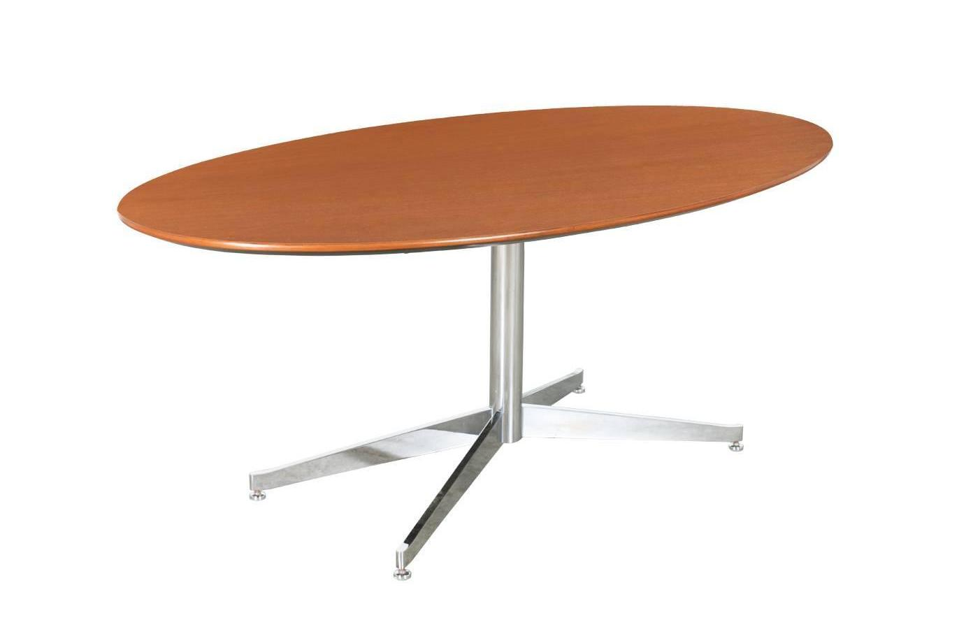 wood oval dining table pedestal base with metal legs