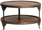 wood rustic 30 inch round coffee table