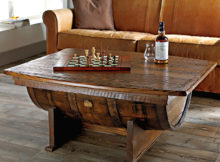 wooden barrel coffee table plans