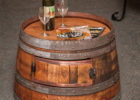 wooden barrel coffee table uk