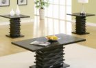 wooden black coffee and end table sets