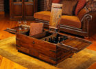 wooden chest hidden compartment coffee table