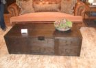 wooden trunk coffee table target