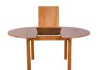 wound wooden butterfly leaf dining table set