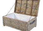 woven wicker grey wash coffee table with storage