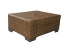 woven wicker outdoor coffee table with umbrella hole