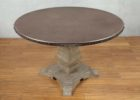 42 inch diameter zinc top round dining table set