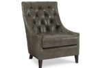 awesome black tufted leather smoking chair