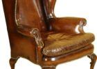 awesome brown leather smoking chair