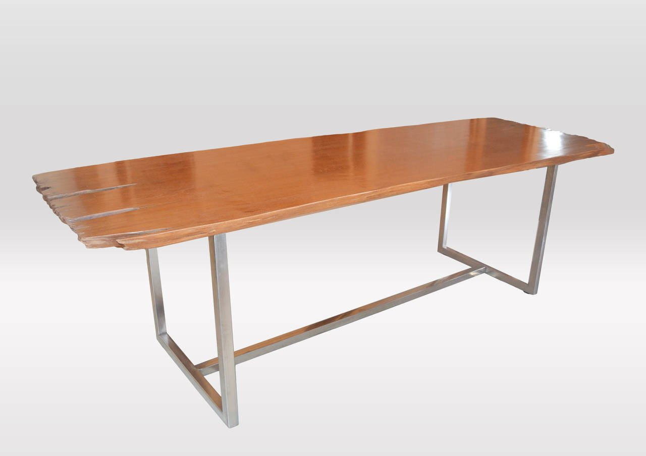 awesome glossy live edge dining table for sale