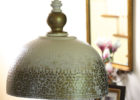 awesome hammered metal pendant light