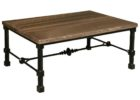 awesome modern wrought iron coffee table with wood top