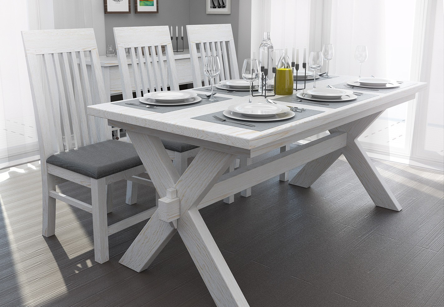 awesome oak white wash dining room table