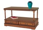 awesome rectangular cherry wood coffee table with drawers