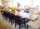 awesome rusitc wood extra long dining table seats 12