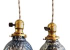 awesome small mercury glass pendant light fixture set