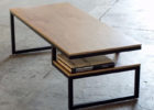 awesome unique modern wrought iron coffee table with wood top