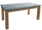 awesome zinc top round dining table uk