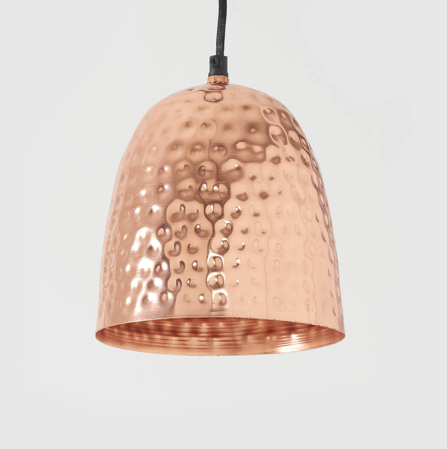 beautiful hammered metal pendant light uk