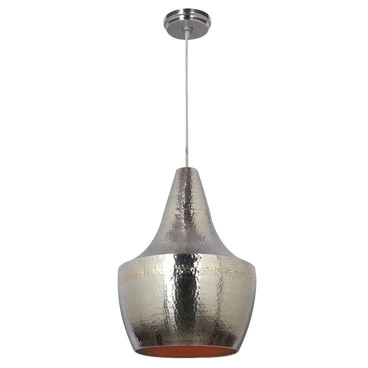 beautiful large hammered metal pendant light uk