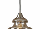 beautiful small mercury glass pendant light fixture