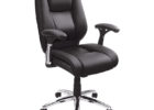 best black realspace fosner high back bonded leather chair