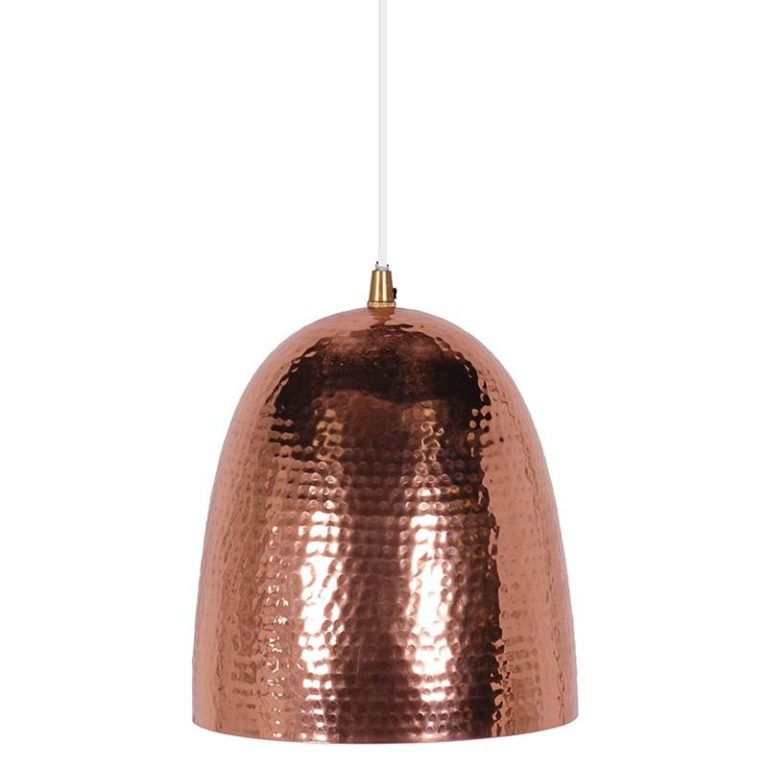 best copper hammered metal pendant light decor