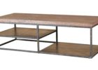 best modern wrought iron coffee table with wood top