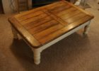 best reclaimed white distressed wood coffee table
