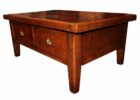 best red cherry wood coffee table with drawers