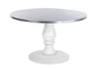 best round zinc top round dining table designs
