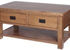 best rustic cherry wood coffee table with drawers