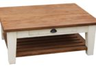 best wood for coffee table top square with drawer